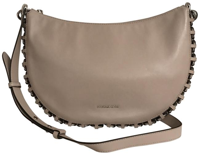 Item - New Piper Gray Silver Leather Messenger Bag