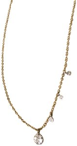 Meira T 14k gold delicate chain necklace with real diamond charms