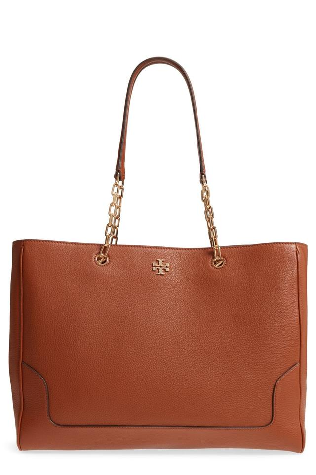 5a40a1c2fe1 Tory Burch Marsden Pebbled Tote Nut Leather Wristlet - Tradesy