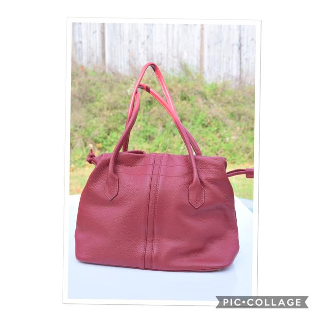Item - Bag Pebbled Red Leather Tote