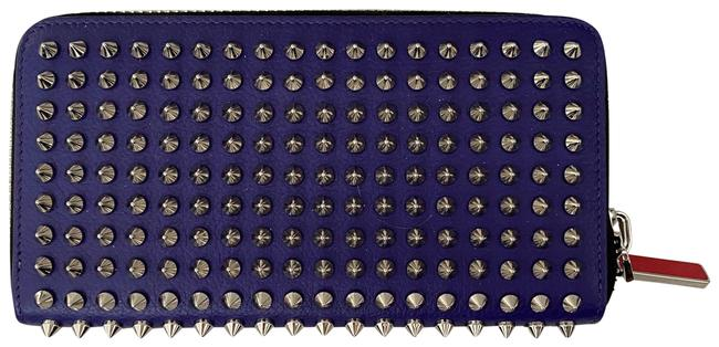 Item - Purple Panettone Spiked Studded Zip Wallet
