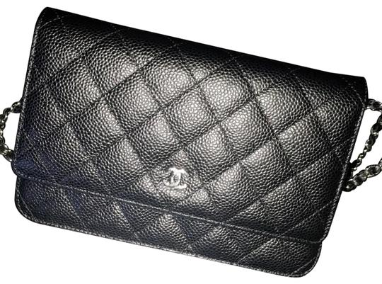 f99460c29ca5 Chanel Wallet on Chain W Woc Caviar Quilted W/Silver Hardware Black ...