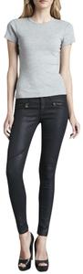 AG Adriano Goldschmied Stretchy Zippers Moto Skinny Jeans-Coated