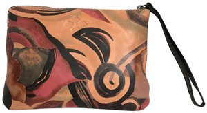 Patricia Nash Designs Purse Handbag Wristlet. Tan Multi Clutch