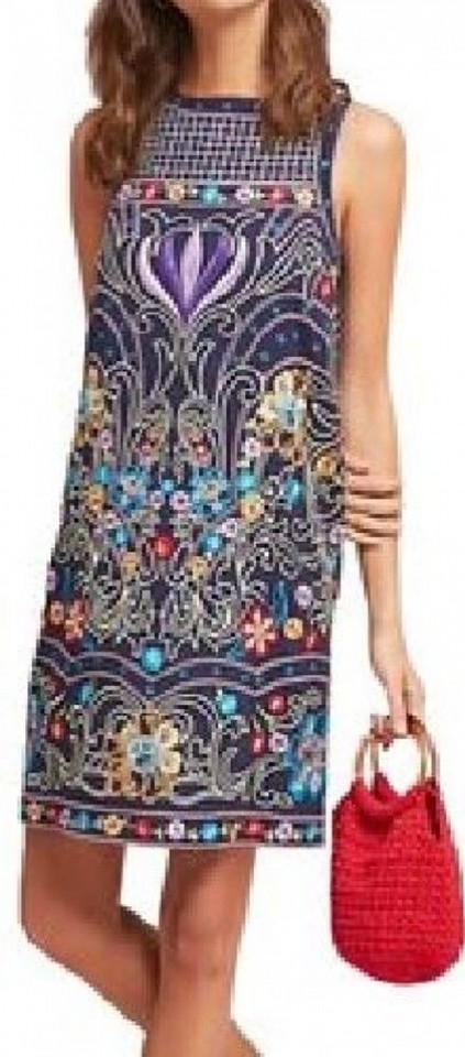 6d84922cc95 Anthropologie Multicolor Kira Embroidered Tunic 0p By Maeve Short Cocktail  Dress Size Petite 0 (XXS) - Tradesy