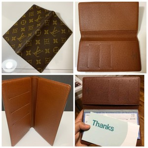 3f60f2bb35aae2 Louis Vuitton Brown Checkbook Cover Wallet - Tradesy