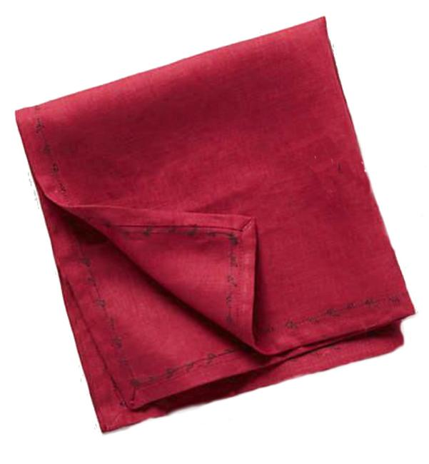 Item - Wine Running Linen Napkin Set Other