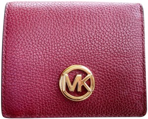 Michael Kors Michael Kors Fulton Carryall Card Case Wallet Mulberry Leather
