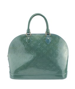 Louis Vuitton Patent Leather Satchel in Green