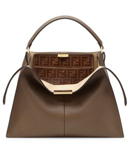 Fendi Peekaboo Peekaboo X Lite X Lite Peekaboo Tote in Brown