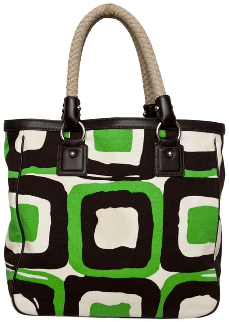 Item - Brown Green White Canvas Tote