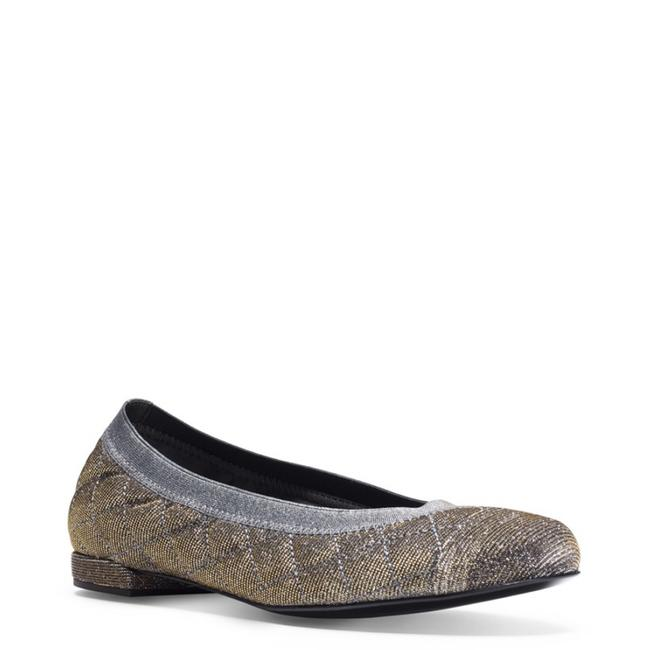 Item - Silver Pyrite Quilted Flats Size US 8.5 Regular (M, B)