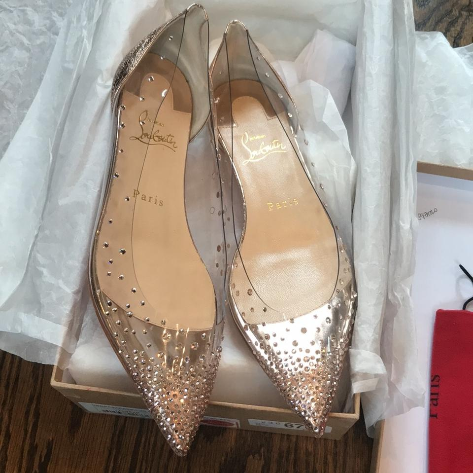 premium selection 15a4c caad5 Christian Louboutin Nude Degrastrass Rose Gold Vintage Specchio Flats Size  EU 38 (Approx. US 8) Regular (M, B) 32% off retail