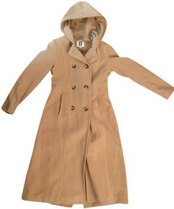 Anne Klein Long Cashmere Trench Coat