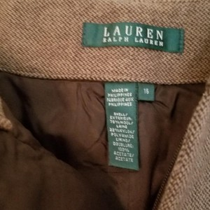 Ralph Lauren Blue Label Wool Size 16 Fully-lined Boot Cut Pants Brown