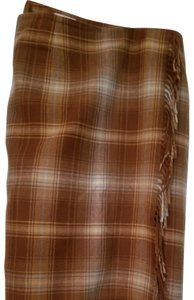 Villager Wool Size 14 Fall Like New Maxi Skirt Brown and tan