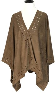 Soft Surroundings Poncho Suede One Size Sweater