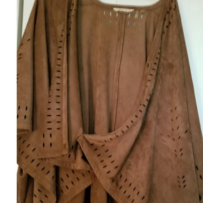 Soft Surroundings Poncho Suede One Size Sweater Image 2
