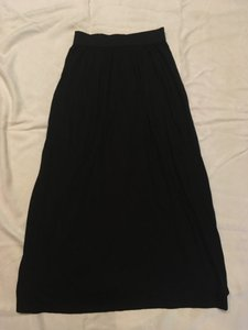 Peruvian Connection Classic Knit Maxi Skirt Black