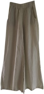 Edme & Esyllte Linen Summer Wide Leg Pants Natural