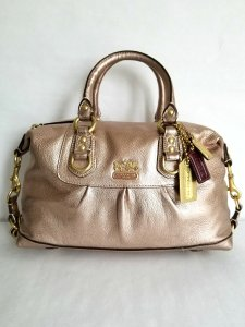 Coach Coachashley Leather Satchel in Pink