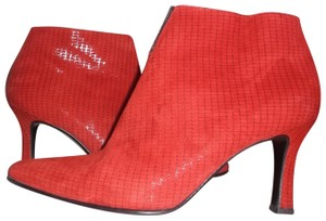 Peter Kaiser Suede Stiletto Sequin Red BLACK Boots