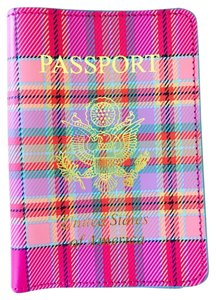 Baekgaard Plaid Leather Passport Cover