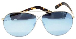 00eb82ee2021 Tom Ford Aviator Unisex Sunglasses Metal Frame with Blue Mirrored Lens