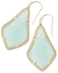 Kendra Scott Kendra Scott Chalcedony Green Alex Earrings