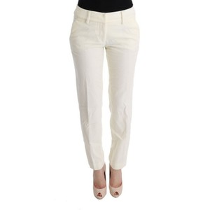 Ermanno Scervino D30319-4 Women's Regular Fit Casual Skinny Pants White