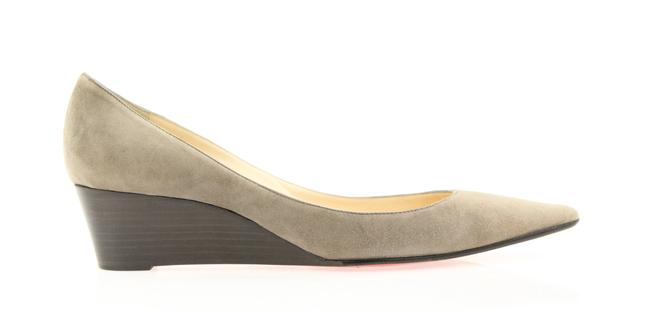 Item - Grey Pointed Toe Wedges Size EU 40.5 (Approx. US 10.5) Regular (M, B)
