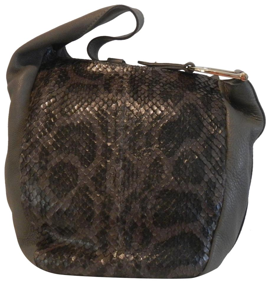 42df349c398d Gucci Greenwich Snake Grey Leather Hobo Bag - Tradesy