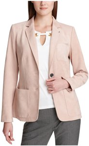 Tommy Hilfiger Classic Style Jacket Patch Pockets Anchor Buttons Nothch Collar Fitted Seams San/Beige Blazer