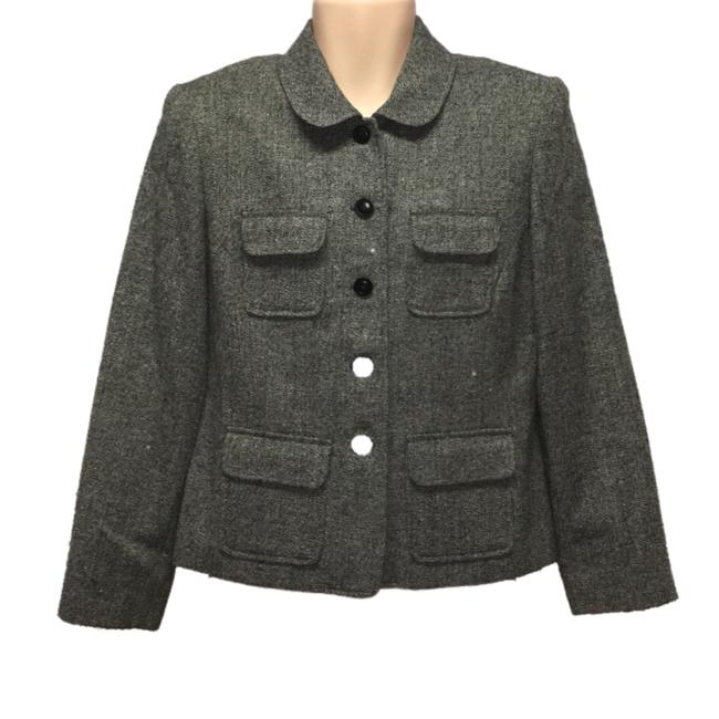 Item - Grey Wool Blend Career Blazer Size 12 (L)