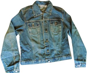 Newport News Short Jean Crop Distressed Blue Womens Jean Jacket