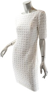 W by Worth short dress Ivory Windsowpane on Tradesy