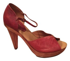 Calleen Cordero Italian Leather Handcrafted Brown Platforms