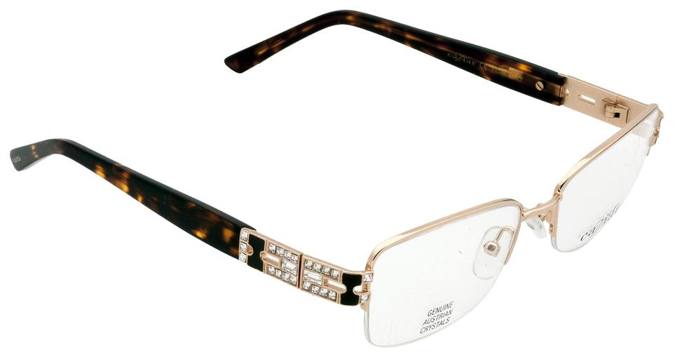 d736d74a531 Caviar Eyewear Caviar 4875 Eyeglasses Semi-Rimless C21 Gold Brown Frames  Authentic Image 0 ...