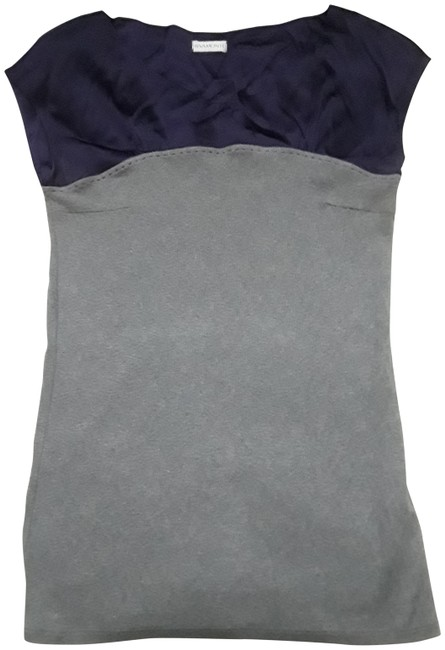 Item - No Sleeve Cotton Knit with Silk Gray Sweater