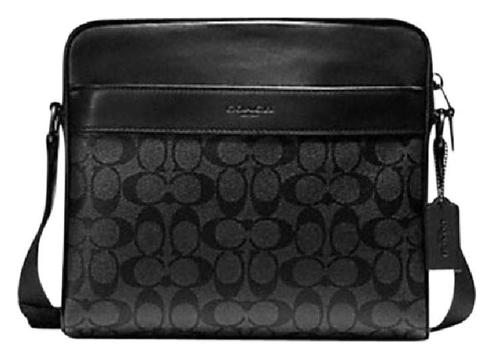 e1e8387824 Coach Charles Camera In Signature F28456) Black Canvas Messenger Bag ...