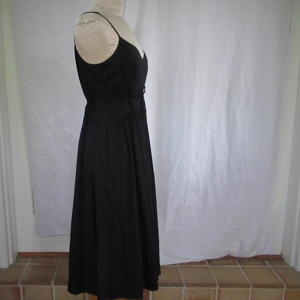 454e954ecae Theory Linen Spaghetti Straps Adjustable Flared Skirt Attached Tie Dress  Image 5. 123456
