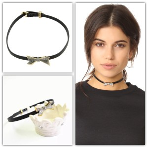 Alexis Bittar Encrusted Origami Bow Choker Necklace Style ALEXS40994