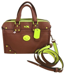 Coach Leather Satchel in Saddle