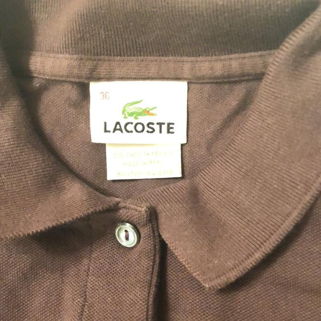 Lacoste T Shirt Brown Image 2