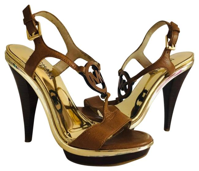 Item - Brown Leather High Heels Shoes/Sz 6m Formal Shoes Size US 6 Regular (M, B)