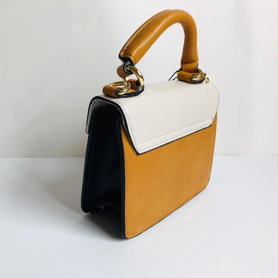 f0d5c63d3d BCBGeneration Raphaela Mini Bag/ Black Mustard Ivory Faux Leather ...