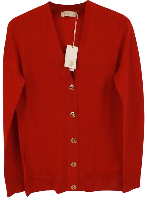 Preload https://img-static.tradesy.com/item/24255795/tory-burch-red-simone-maple-flower-wool-gold-reva-button-cardigan-size-6-s-0-3-650-650.jpg