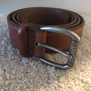 Kenneth Cole Reaction square buckle leather belt