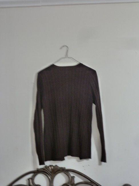 Carolyn Taylor Knit Ribbed 9 Button Front Sweater