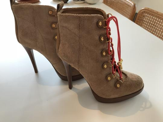 Tory Burch Suede Camel Boots